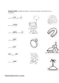 resultado de imagen para completar vocales actividades para primaria alem 225 n y objetos