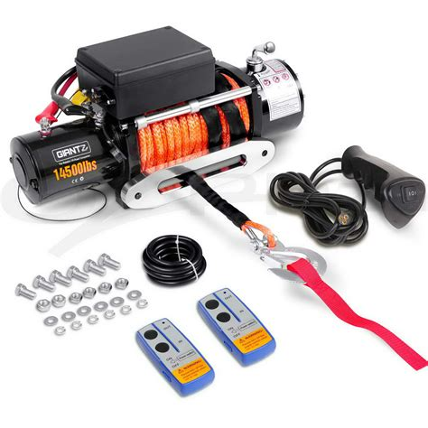 Electric Boat Winch Wireless Remote by 14500lbs 6577kg Wireless Electric Winch Remote Synthetic