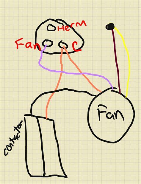 how to wire a condenser fan motor impremedia net