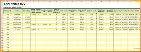 payroll template excel 5 payroll sheets template simple salary slip