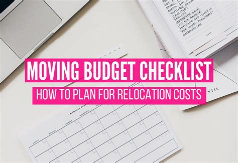 How To Plan Relocation by Moving Budget Checklist How To Plan For Relocation Costs