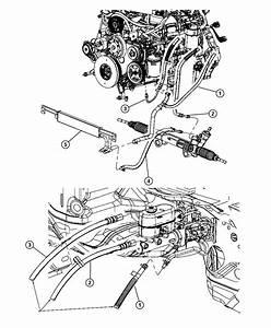 2012 Dodge Ram 3500 Hose  Power Steering Return  Gear To