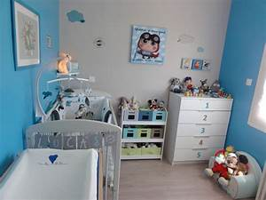 chambre bebe garcon photo 1 6 bleu gris With chambre garcon bleu gris