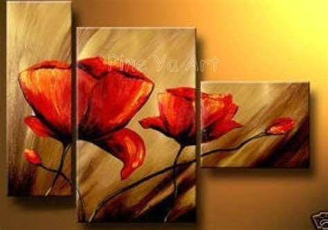 piece abstract modern canvas wall art cheap handmade red