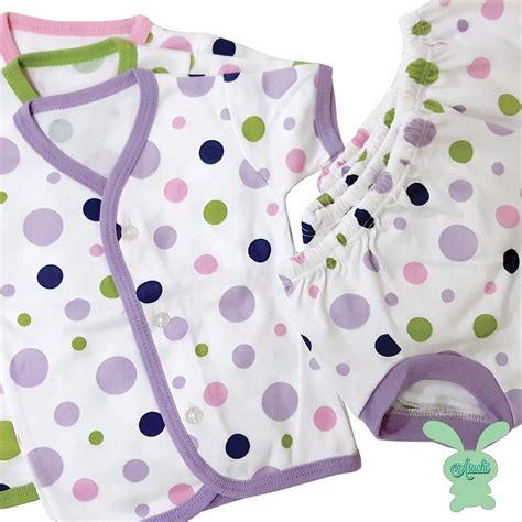 baju bayi setelan pendek bayi jual setelan pendek newborn baju tidur bayi aruchi di lapak karen322