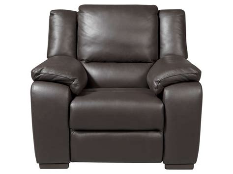 fauteuil relaxation en cuir saturday coloris expresso