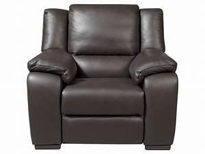 Fauteuil Electrique Conforama : fauteuil relaxation lectrique en cuir saturday coloris expresso vente de tous les fauteuils ~ Teatrodelosmanantiales.com Idées de Décoration
