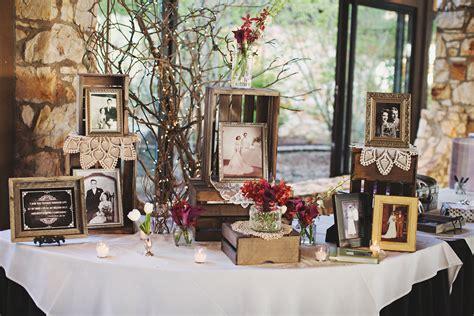 vintage burgundy  cream reception decor