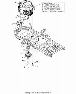 Ariens 915329  016000 -   Ikon X 42 Ce Parts Diagram For Engine