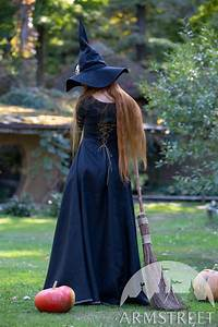 black linen witch dress bloody for sale