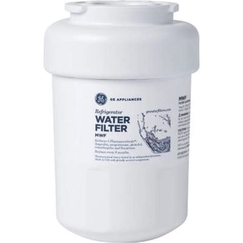 ge refrigerator water filter mwf  home depot