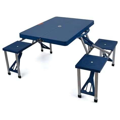portable folding table 4 chairs lightweight picnic dining