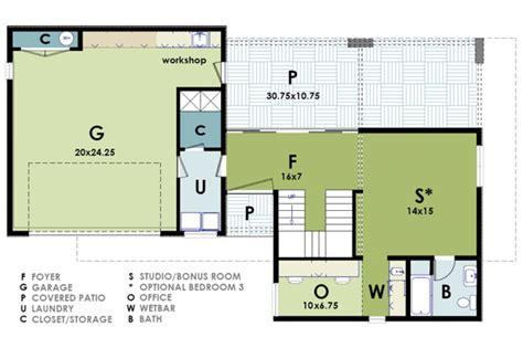 ultra modern house plan modern house plans  arizona modern studio loft floorplans