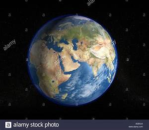 The planet earth as seen from space in a high resolution ...