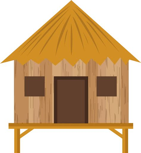 library  grass hut clipart black  white  png files clipart art