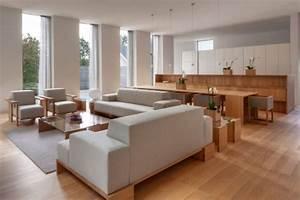 parquet flottant dans l39interieur moderne en 105 exemples With salle a manger parquet