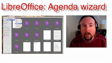 libreoffice agenda wizard youtube