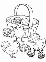 Easter Basket Coloring Pages Printable sketch template