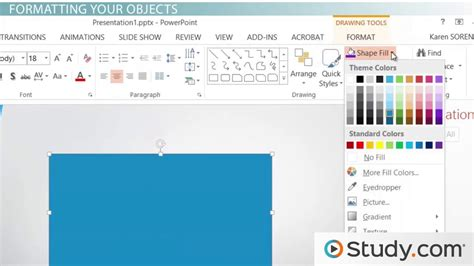 drawing tools  format features  powerpoint