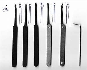 Lock picking set template all for Lock pick rake template