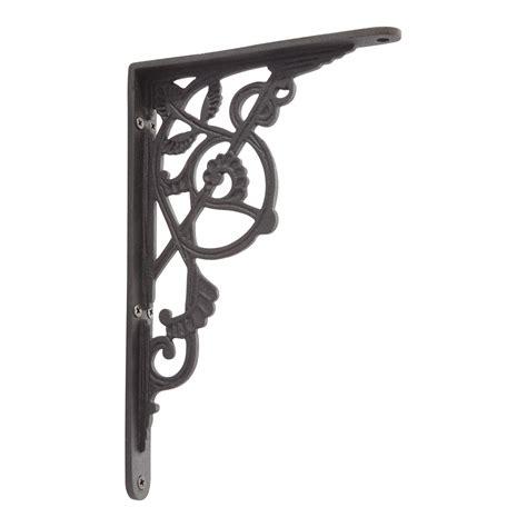 deco shelf brackets signature hardware deco iron shelf bracket