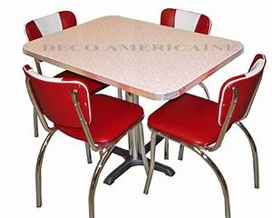 Deco Americaine Vintage : american retro diner set 4 retro riner chairs 1 table vintage goodies deco americaine ~ Preciouscoupons.com Idées de Décoration