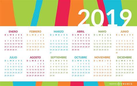 colorful spanish calendar design vector
