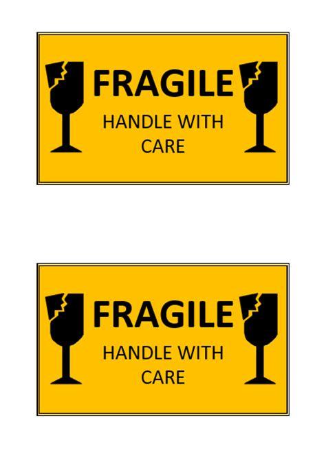 fragile handle  care label template microsoft word