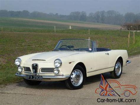 1964 Alfa Romeo 2600 Spider Rhd