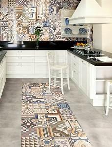 comment adopter le carrelage patchwork a son interieur With cuisine avec carreaux de ciment