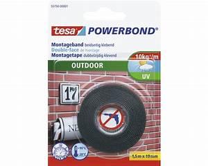 Tesa Powerbond Outdoor : tesa powerbond montageband outdoor 1 5m x 19mm bei hornbach kaufen ~ Frokenaadalensverden.com Haus und Dekorationen