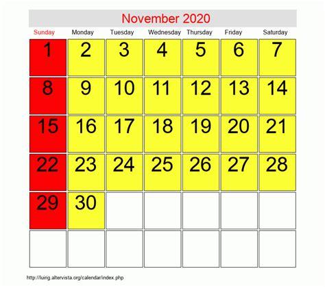 november roman catholic saints calendar
