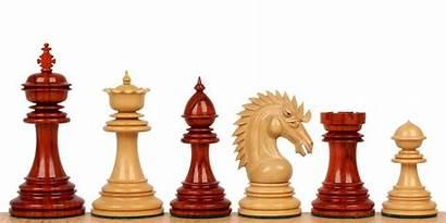 Chess Pieces Staunton Padauk Boxwood African King