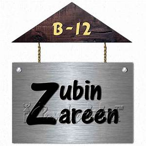 buy house shape name sign design in metal online in india With name plate designs for home