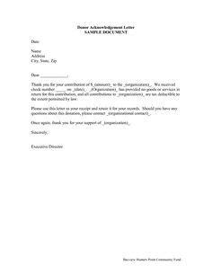 501c3 tax deductible donation letter template donation