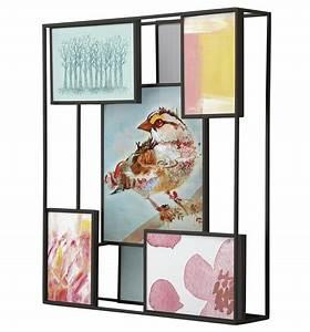 Cadre Photo A Poser : cadre photo matrix pour 7 photos a poser ou suspendre noir umbra made in design ~ Teatrodelosmanantiales.com Idées de Décoration