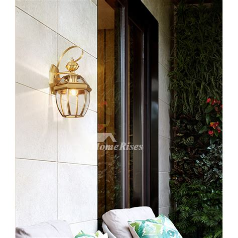 decorative wall sconce outdoor wall sconce lantern exterior brass glass