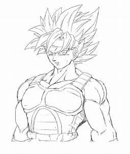 Dibujos De Goku Fase 4 Dragón Ball Gt Para Colorear. - AZ ...