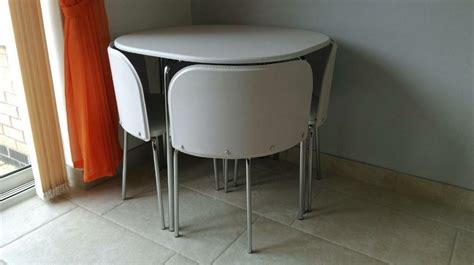 hygena aro space saving dining table 4 chairs in mansfield nottinghamshire gumtree
