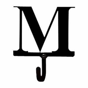 letter m black metal wall hook small With black letter hooks