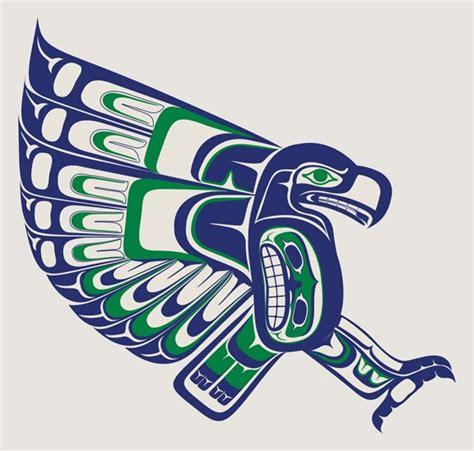 local seattle artist creates  amazing seahawks logo