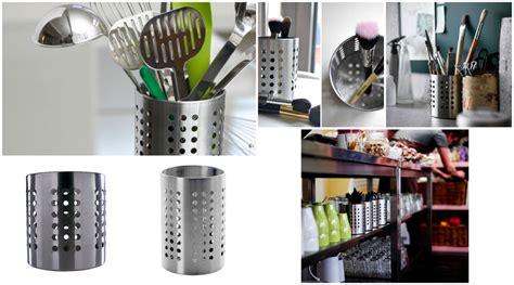kitchen utensils storage ikea ordning cutlery utensil holder caddy stainless steel 3427