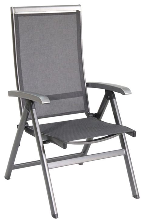 bristol aluminum folding chair sling gray set of 2