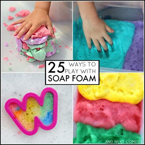 25 soap foam sensory activities for and next comes l 690 | 25 soap foam sensory activities for kids toddlers preschool square
