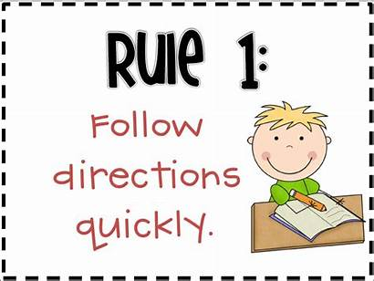 Rules Classroom Clipart Rule Posters Directions Follow