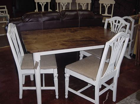 32 x 50 cottage white country table and chair set just