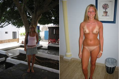 tits amateur dressed undressed before and after tan lines image uploaded by user advanceman at
