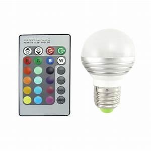 Ampoules A Baionnette Couleur : ampoule led 16 couleurs avec t l commande distance ~ Edinachiropracticcenter.com Idées de Décoration