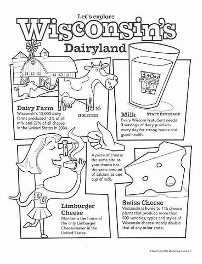 Coloring Dairy Pages Months Classroom Milk Activities