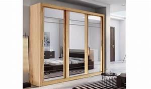 Armoire Porte Miroir : armoire dressing 3 portes miroirs coulissantes lux ~ Teatrodelosmanantiales.com Idées de Décoration